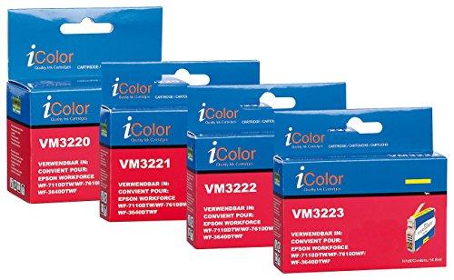 iColor Workforce Wf 7720 Dtwf, Epson: ColorPack für Epson (ersetzt T2711-T2714 / 27XL), BK/C/M/Y XL