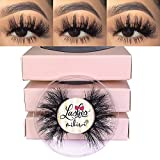 3D Mink Lashes, Mikiwi D390-3, 3 Pairs Lashes, Mink Eyelashes, Thick HandMade Full Strip Lashes, Cruelty Free, Luxury Makeup, 20mm mink eyeLashes (D390-3)