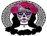 DAOPUDA Pintura de diamante hecha a mano de bricolajeniña azúcar calavera maquillaje calavera catrina,Diamantes Artes decoración de la pared pintura de diamantes 30x40cm