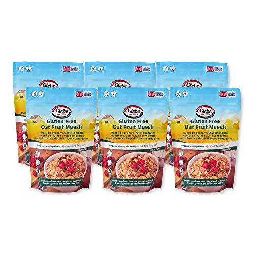 Glebe Farm, Muesli de avena sin gluten - 6x400 gramos, vegano, saludable, alto en fibra