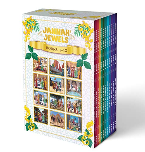 Jannah Jewels Complete 12-Book Boxed Set - Islamic Books For Kids | Muslim Children Books | Diverse Chapter Book Series