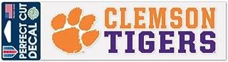 WinCraft NCAA Clemson University Tigers 3 x 10 inch Perfect Cut Decal