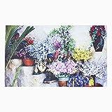 Homescapes Diseño de Flores en Pasos Felpudo 100% Reciclado de Goma Antideslizante Felpudo Flores–Parte Jardín y Accesorios Gama