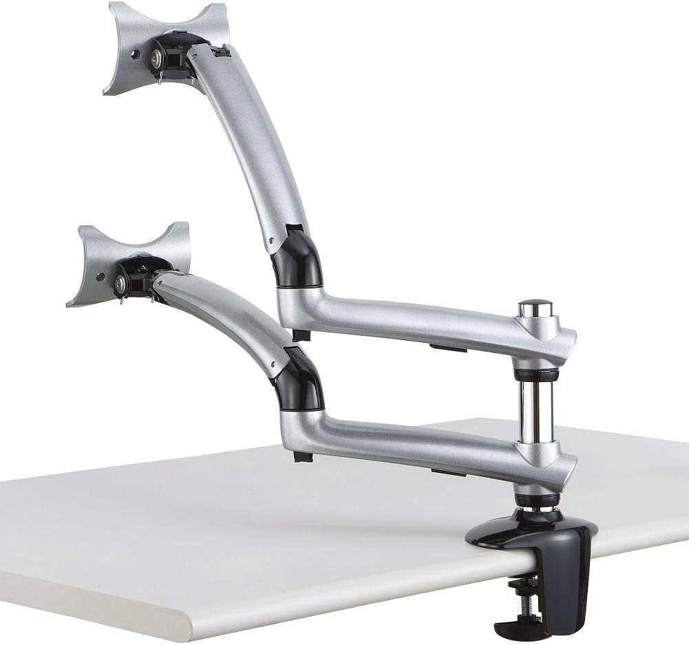 Cotytech Dual Finally popular brand Apple Desk Mount Spring D Arm Clamp Silver - Base 5% OFF