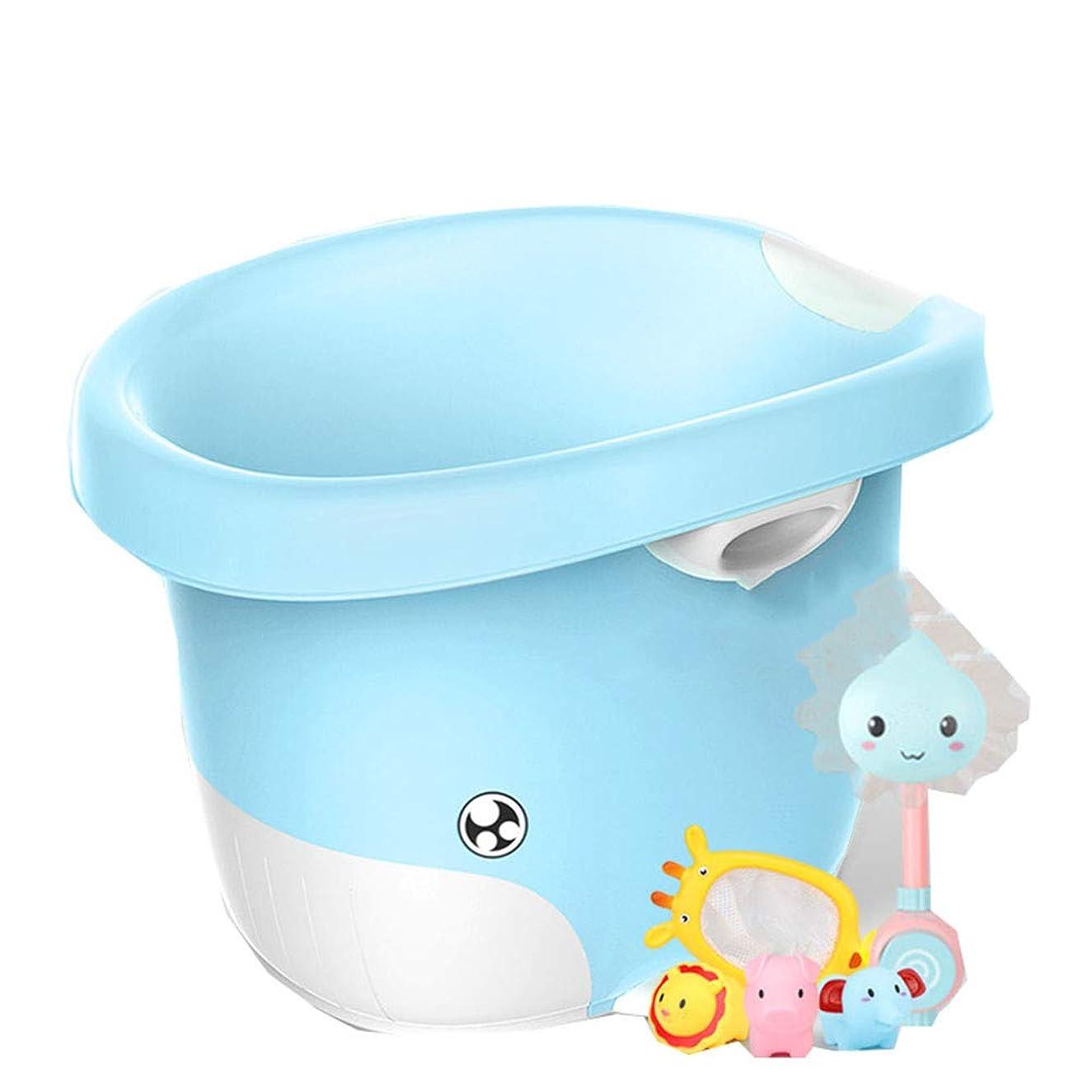 Yajun Baby Bath Tub Children's Barrel Infant Bucket Multifunction Shark Appearance Humanized Three-Dimensional Design Comfortable