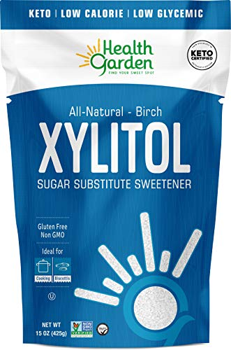 Health Garden Birch Xylitol Sweetener - Non GMO - Kosher - Made in the U.S.A. - Keto Friendly (15 OZ)