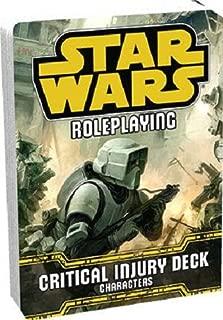 Fantasy Flight Games Critical Injury Deck Star Wars RPG