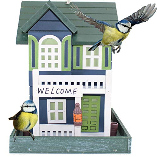 FACHWERK VOGELFUTTERHAUS | Vogelvilla Futterhaus zum hängen Vogel Kasten Haus Vogelhaus