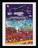 GB Eye Minecraft, Mundo Más Allá Impresión enmarcada, Multicolor, 30x 40cm