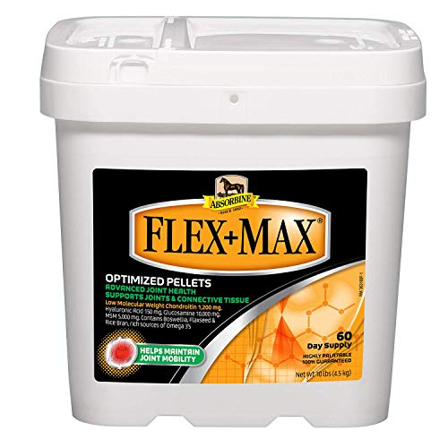 Flex+Max Joint Health Supplement Pellets Highly Palatable, Concentrated Equine Joint Support Formula with Glucosamine, MSM, Chondroitin, and Flaxseed; 10 Pound