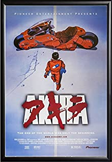 Akira Movie Poster US Version Framed (Black)