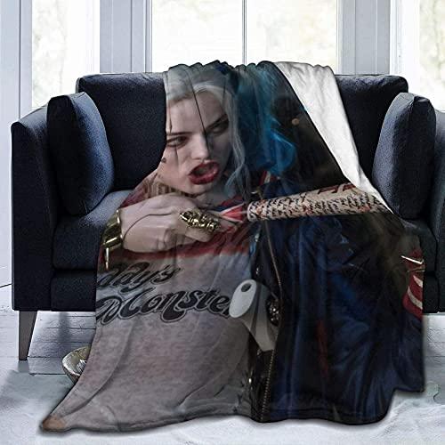 Harley Quinn acogedora manta de TV con franela, gran manta envolvente para mujeres y hombres