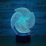 Molino de Viento Grande luz de Color táctil Carga Visual Regalo luz Nocturna lámpara de habitación para niños decoración del hogar luz Nocturna