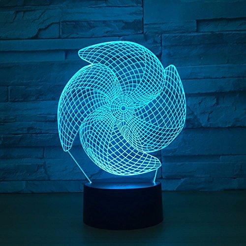 Kleine Windmühle USB Schlaf 3D LED Nachtlicht Tischlampe Nachttisch Dekoration Kinder Geschenk