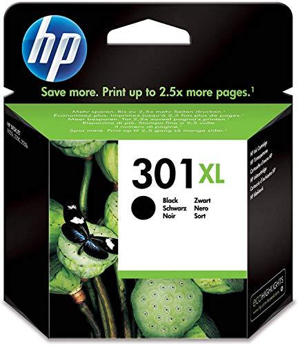 HP CH563EE 301XL Cartucho de Tinta Original de alto rendimiento, 1 unidad, negro