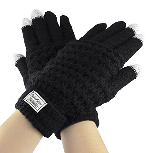 Winter Touchscreen Wool Knitted Gloves Warm Texting Gloves with Grips for Electric Device Cell Phone/Tablet/Mp5 Soft