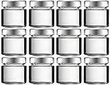mikken 12x Pot en Verre 120ML Bocal en Verre avec Bouchon à Visser sans PVC + Entonnoir