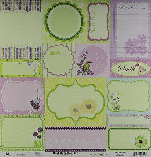 Best Creation Une Promenade au Jardin Blooming Papier de Paillettes