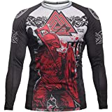 Hardcore Training Viking 2.0 Rash Guard Men's Camisa de Compresión Hombre MMA BJJ Boxeo...