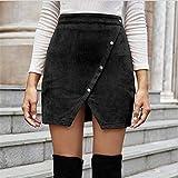 Falda Para Mujer,Falda De Tubo Corta Con Abertura Asimétric