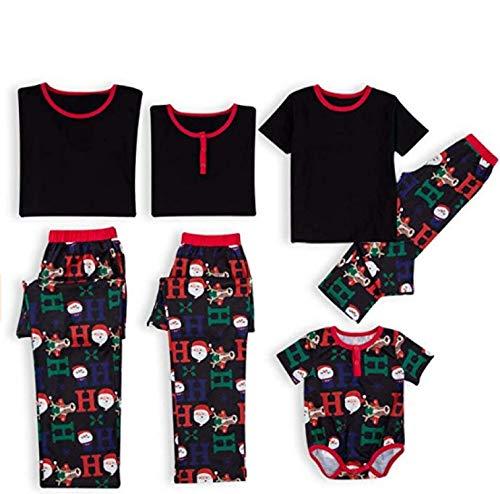 Pyjama Damen Nachthemd Schlafanzug Familien-Matching-Weihnachtspyjamas-Sets Print Matching Adult Mutter Vater Kid Family Xmas Nightwear Kleidung Outfit Kid-80 Multi