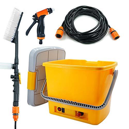 MAYER GB 洗浄機 洗車機 高圧 ポンプ ポータブル 水鉄砲 ?? 充電 洗車 ポンプ 電動 多機能 壁 掃除 庭 一体式 蓄水箱 20L (オレンジ)