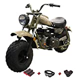 X-PRO Supersized 200CC Youth Mini bike Gas Powered Mini Trail Bike Scooter mini motorcyle,19' Wide Fat Balanced Tires! Big headlight! (Quicksand)