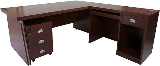 Mahmayi Dupla Modern Executive Desk, 180 x 76.1 cm, Apple Cherry, ME3218APL