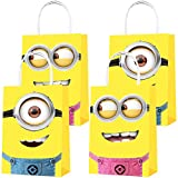 Party Favor Bags 16PCS for Cute Yellow Monster Gift Bags Goodie Bags Treat Candy Bags for Cute Yellow Monster Kids Boys Girls Birthday Party Supplies Decorations