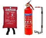 FSS UK Nuevo Plus 1kg polvo ABC extintor con manta de fuego oficina en casa cocina