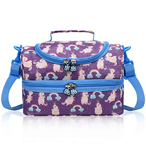 Anpro 7L Lunch Bag Children-Insulated Lunch Bag for Kids Double Decker with...