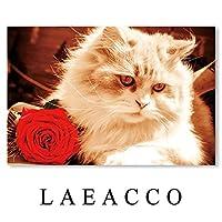 キャンバスペインティング かわいい猫の動物のポスター壁アートキャンバス絵画保育室の装飾ポスターとプリントキッズルームの寝室の装飾 50x70cm