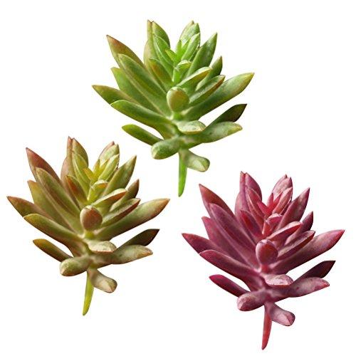 VORCOOL 9 unids Plantas suculentas Artificiales Faux Cactus Flores para Plantas decoración de la Pared Bricolaje