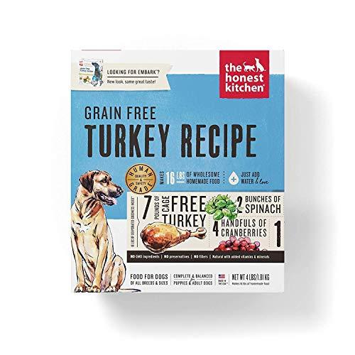 The Honest Kitchen Human Grade Dehydrated Grain Free Turkey Dog...