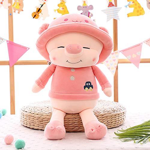 Lan Kissen Niedliches Schwein Auf Schweinepuppe Kissen Weiche Puppe Nach Baumwolle Schweinegeschenk 75 cm (1.05kg) WG-Schweinsteiger Pink