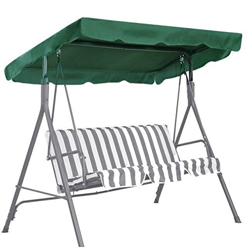 BenefitUSA Canopy Only Outdoor Patio Swing Canopy Replacement Porch Top Cover for Seat Furniture (73'x52', Green)