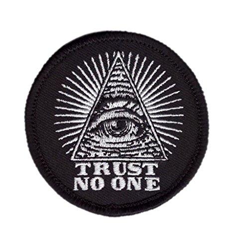 Titan One Europe - Trust No One Eye of Providence Masonic Anarchy Patch Traue Niemandem Auge der Vorsehung Freimaurer Aufnäher Aufbügler