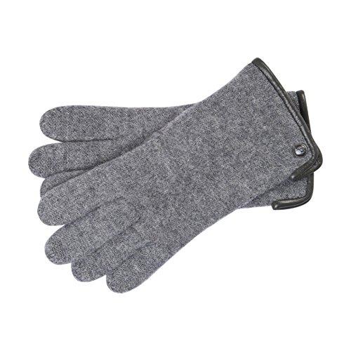 Roeckl Damen Klassischer Walkhandschuh Handschuhe, Grau (Flanell 070), 6