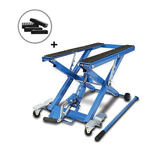 ConStands-Motorrad Hebebühne Triumph Street Cup/Scrambler/Twin, Scrambler Hydraulisch XL inkl. Distanzstücke 500 kg Blau