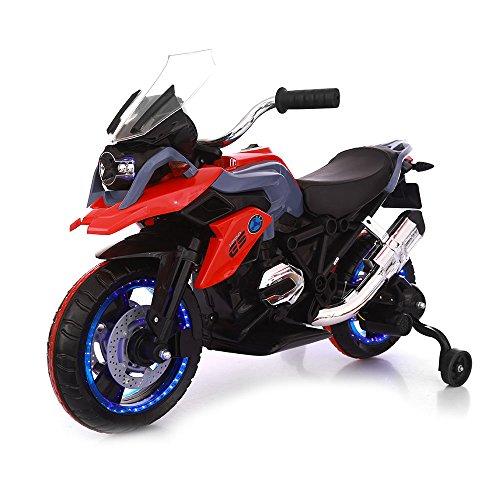 Moto Motocicletta Elettrica 12V Per Bambini Touring Rosso