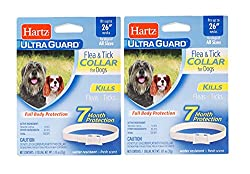 """small Large dog collar Ultraguard against fleas and ticks 26 """"-white (2 per pack)"""