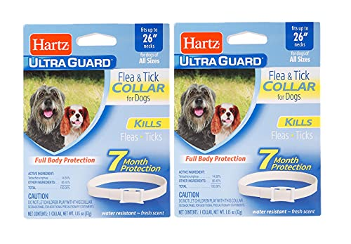 """Ultraguard Flea and Tick Large Dog Collar 26"""" - White (Pack of 2)"""