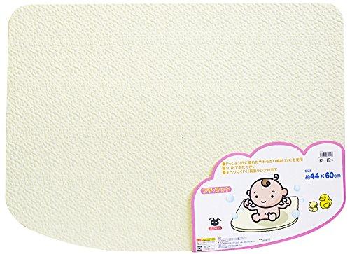 EVA樹脂製 ソフトタイプ 風呂マット プチマット ホワイト
