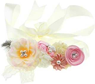 Bridal Sash Belt Bride Maternity Satin Flower Ribbon Sash Baby Girls Dress Accessories for Wedding Decoration
