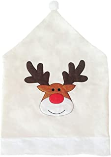 Daliny Christmas Chair Slip Cover Slipcover for Dining Room Removable Elk Home Party Decor