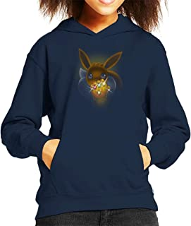 Cloud City 7 Cute Eevee Powerful Gauntlet Kid's Hooded Sweatshirt