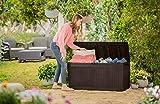 Auflagenbox / Kissenbox Koll Living 270 Liter l 100% Wasserdicht l mit Belüftung dadurch kein übler Geruch / Schimmel l Moderne Holzoptik l Deckel belastbar bis 250 KG ( 2 Personen ) - 6