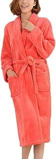 Womens Plush Soft Warm Bathrobe Kimono Fleece Del Long Spa Robe