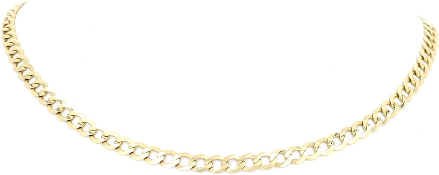 Solid 14K Yellow Gold C-Link Chain/Necklace 6.0mm, 20