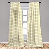 Ambesonne Yellow and White Curtains, Hexagonal Pattern Honeycomb Beehive Simplistic Geometrical Monochrome, Window Treatments 2 Panel Set for Living Room Bedroom Decor, 56' x 63', Yellow White